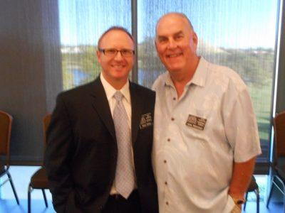 2015 Baseball HOF Inductee Brian Oliver with 2012 Baseball HOF Coach John Whitman