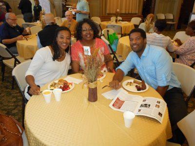 Keisha Johnson with Mother Robertha Johnson and Husband Thomas Demps.