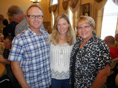 Brian Oliver with Wife Jen and Mother Sandra Oliver