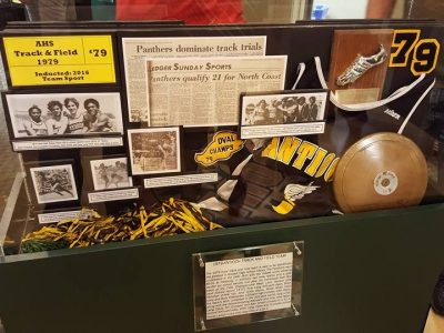 1979 Boy's Track and Field Team Display