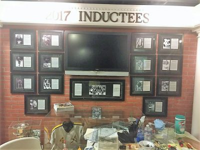 2017 Sports Hall Inductee Wall