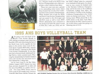 2017 Inductees Brian White and 1995 AHS Boys Volleyball Team pg 14