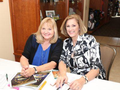 Dorothy Meeks-Beaudin and Kris Fox-DelMonte 2017 Gala registors welcome attendees