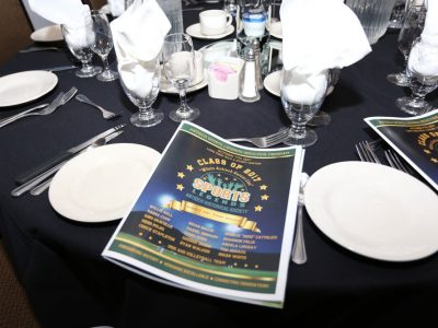 2017 Induction Gala Table Setting