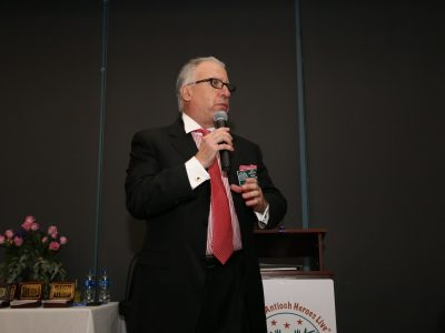 Interim Coordintor Gary Bras introducing Antioch Sports Legends Eddie Beaudin