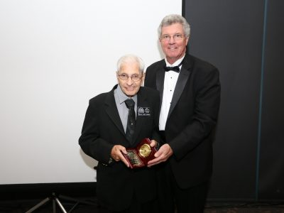 """2017 Inductee Horace """"Zedo"""" Cattolico and M/C Gordon Gravelle"""