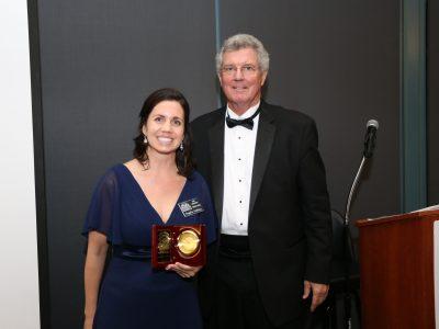 2017 Inductee Angela Lindsay and M/C Gordon Gravelle
