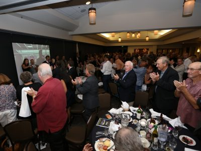 Alumni standing for 2017 Induction Class