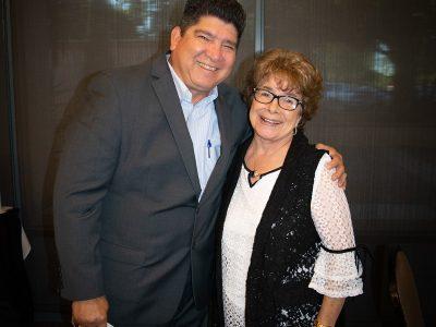 Antioch High School Principal Louie Rocha and Antioch Sports Legends Sponsor Gloria Martin