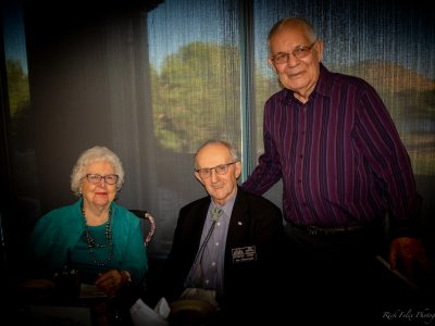 Mary and Joe Olenchalk, 2015 Inductee with 2013 Inductee LeRoy Murray