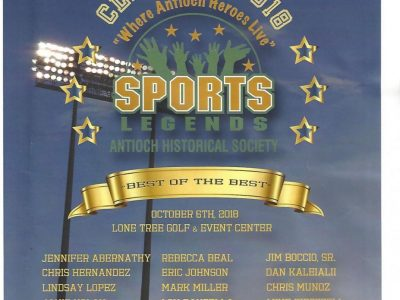 Antioch Sports Legends Inductee Program Cover