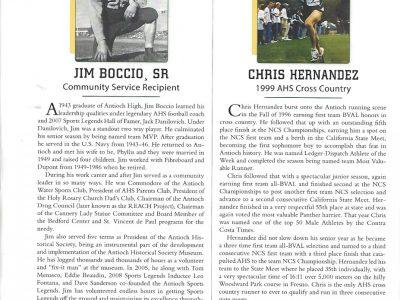 2018 Inductees Jim Boccio Sr. and Chris Hernandez