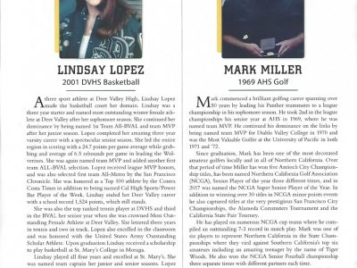 2018 Inductees Lindsay Lopez and Mark Miller