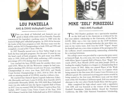 2018 Inductees Lou Panzella and Mike Pirozzoli