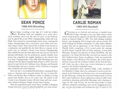 2018 Inductees Sean Ponce and Carlei Roman