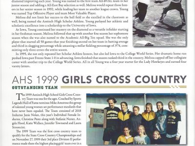 Melissa Young and The AHS 1999 Girls Cross Country Team