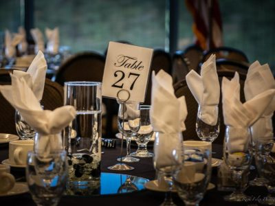 The tables are set and ready for the 2019 Hall of Fame Gala