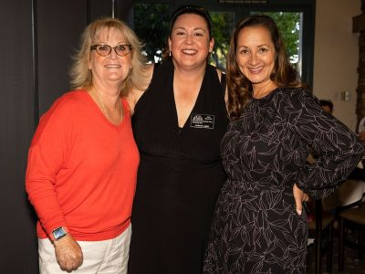 Council Woman Lori Ogorchok, Lindsey Lopez-Wisley HOF 2018 and Tine Gallagos East Bay Times writer and freind of the ASL.