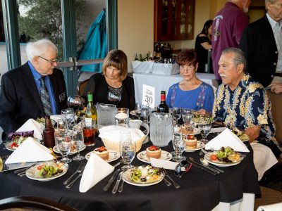 Willis Ball HOF 2017, Carol Ball, ASL Volunteer Gayle Autenico and Randy Autentico HOF 2012 and R&R Committee