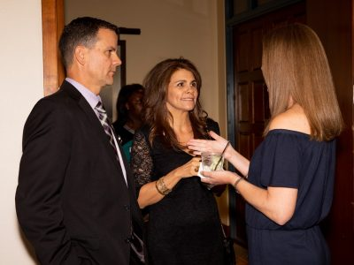 2019 Inductee Jeff Lyons, his wife Andrea-Mia and friend.