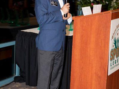 2019 Inductee Bill Pillon giving acceptance speech.