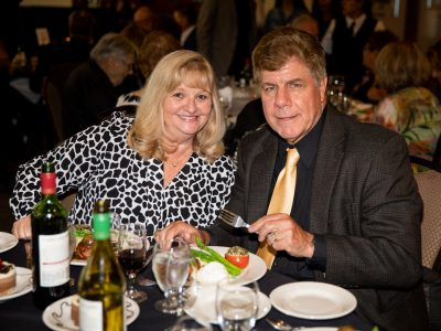 Antioch Sports Legends Co-Founder Eddie Beaudin and his wife Dorothy enjoying dinner.