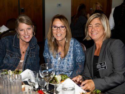 Having fun at the Social Hour on left Holly Sells, Jennifer Sells HOF 2019 and Lori Bien.