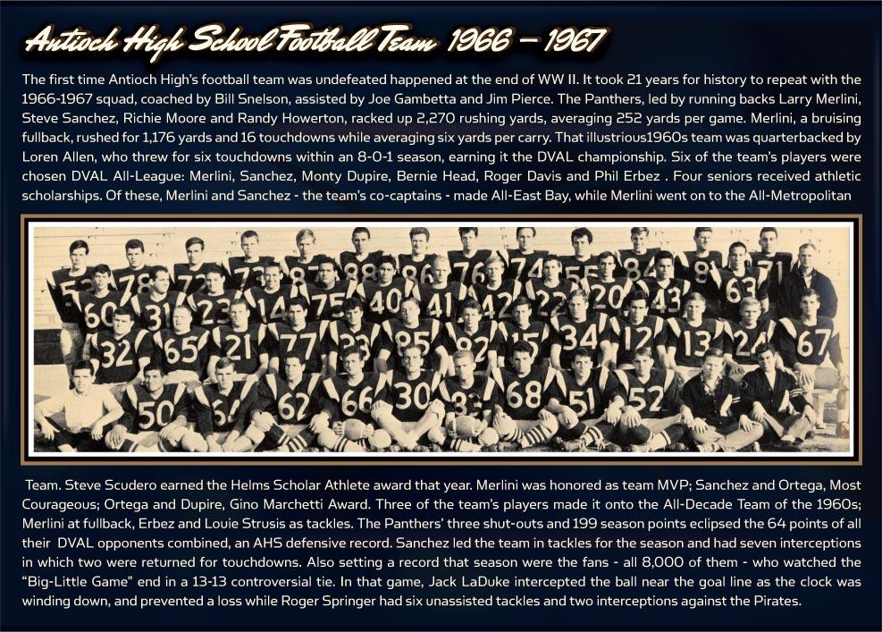 1966-1967 Antioch High School Football Team