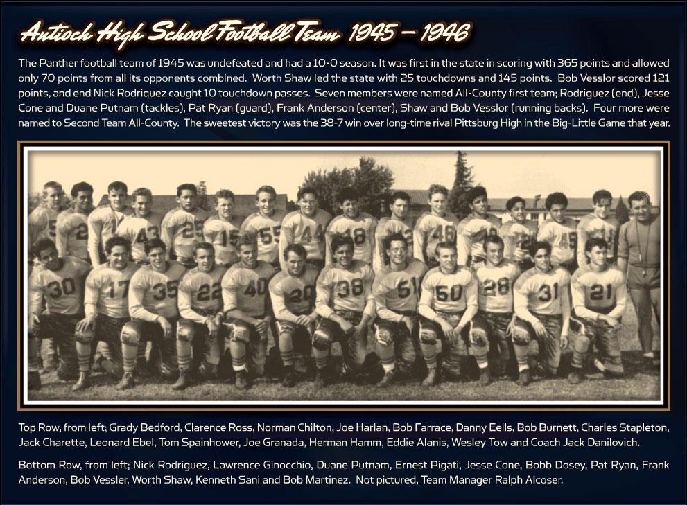 1945-1946 Antioch High School Football Team